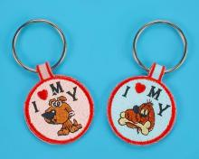 Embroidered Dog Tag Key Chain - Luminous