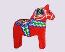 Dalecarlian Horse Embroidered Patch
