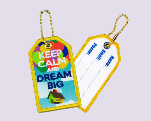 Embroidery + Sublimation Luggage Tag