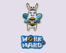 Work Hard Bee-Embroidery Sticker Pack