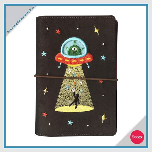 EMBROIDERED PASSPORT COVER - ALIEN