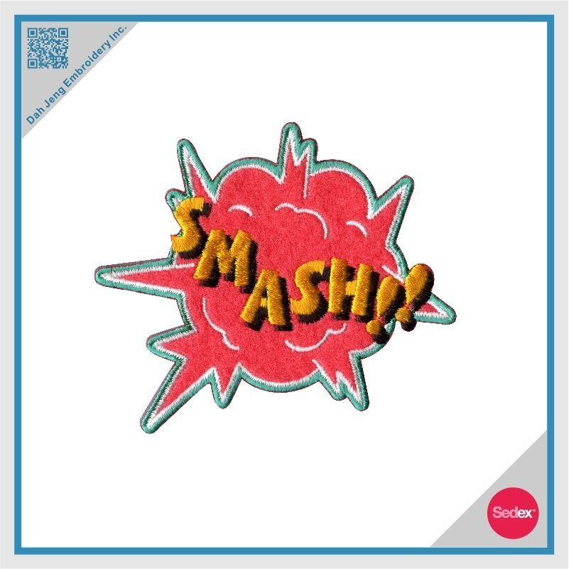 Stick On Embroidered Patch - SMASH
