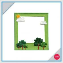 Removable Photo Frame Embroidery Sticker - Cloud & Tree