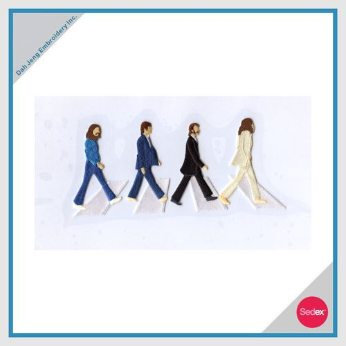 Iron-On Embroidery Sticker Set - The Beatles