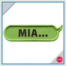 Lettering embroidery patch - MIA...