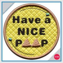 3D embroidery patch - Have a NICE PEEP