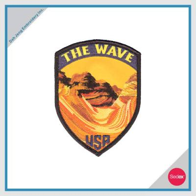 Embroidery Patch with Velcro Backing - THE WAVE