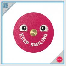 Embroidery Smile Face Earphone Winder / Wire Collector