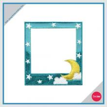 Removable Photo Frame Embroidery Sticker - Star & Moon