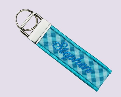 Name Key Chain-Embroidery + Sublimation key chain