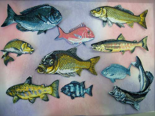 Fish Embroidered Patches for Japanese Gift Show