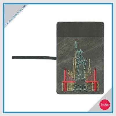 EMBROIDERED PASSPORT COVER - LIBERTY