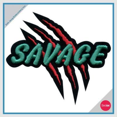 3D embroidery patch - SAVAGE